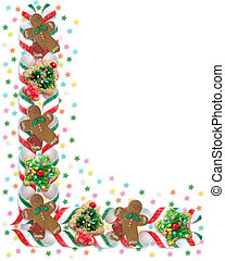 Christmas Border Cookies and Candy