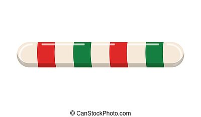 christmas border , divider . Candy cane line Vector illustration isolated on white background. Holiday xmax striped stick candy decoration design .
