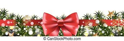 Christmas Border Fir Tree