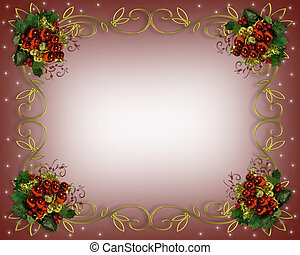 Image and illustration composition for Christmas card, invitation, template, Border or frame with copy space.
