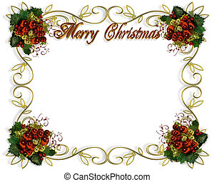 Christmas border frame elegant - Image and illustration ...