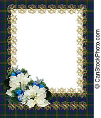 Christmas Border Frame plaid