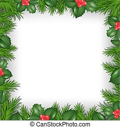 Christmas Border From Holly Berry
