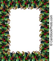 Christmas Border Holly