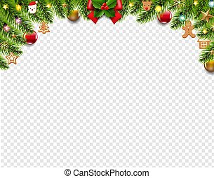 Christmas Border Isolated Transparent Background