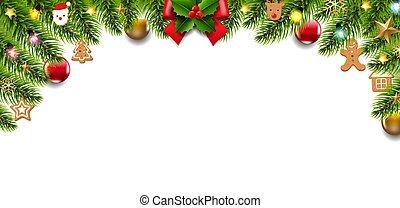 Christmas Border Isolated White Background