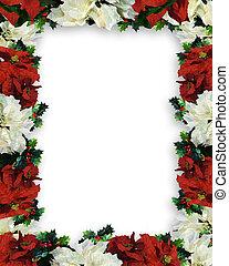 Christmas Border Poinsettias
