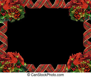 Christmas Border Ribbons on black