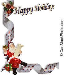 Christmas Border Santa