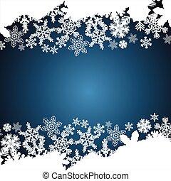 Christmas border, snowflake design background.