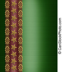 Christmas Border Stars and ribbon