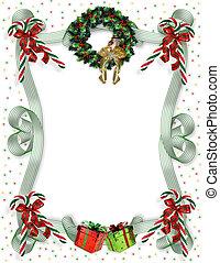 Christmas border traditional - Image and illustration...