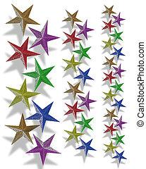 Christmas borders Stars