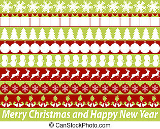 Christmas borders. vector