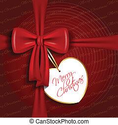 Christmas bow background