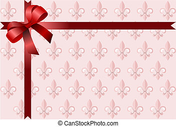 Christmas bow. Colored vector illustration for designers
