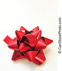 Christmas bow isolated on a white background
