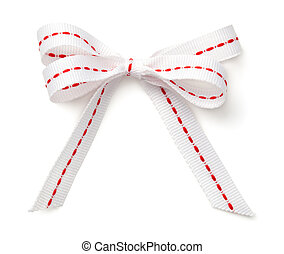 Christmas Bow Isolated on White Background