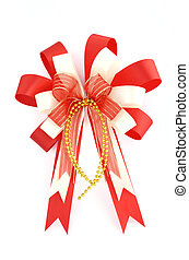 Christmas bow isolated on white