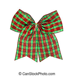 christmas bow isolated on white , clipping path