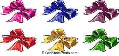 Christmas bow of wariated color 1