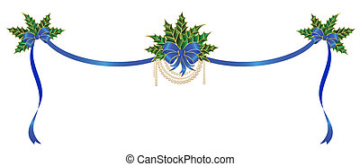 christmas bow on a white background