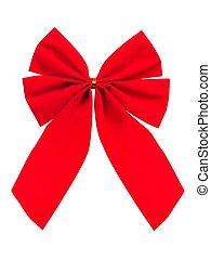 Christmas bow on white