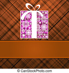 Christmas box card. EPS 8 v