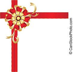 Christmas box gift bow design
