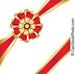 Christmas box gift ribbon