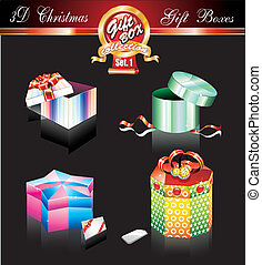 Christmas Box Luxury Collection on Black - Set 1