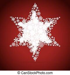 Christmas box, snowflake design background.