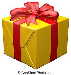 Christmas box - 3d christmas Box on white backgroound