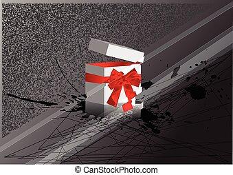 christmas box with bow