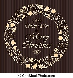 Christmas brown background