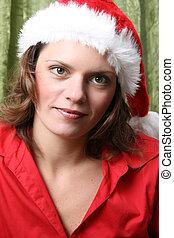 Christmas brunette