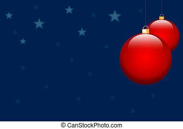 christmas bulb on blue background