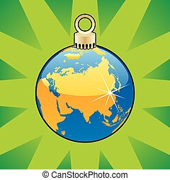 christmas bulb world globe