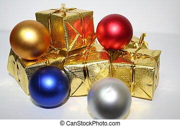 Christmas Bulbs and presents