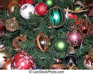 Christmas Bulbs - Photographed from a Christmas tree