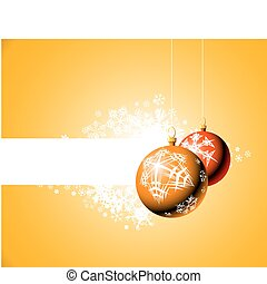 Christmas bulbs with snowflakes