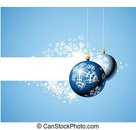 Christmas bulbs with snowflakes