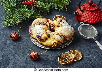 Christmas bun for tea