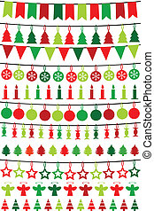 Christmas buntings and garlands