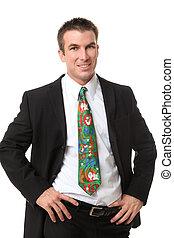 Christmas Business Man