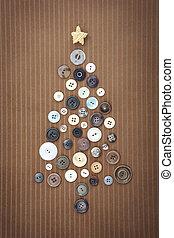 Christmas Button Tree