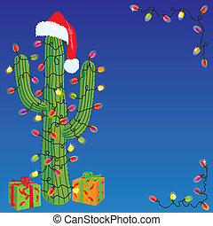 Christmas Cactus - Southwestern or Mexican Christman card
