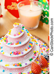 Christmas cake for party