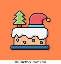 christmas cake icon