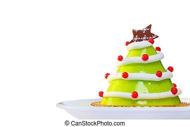 Christmas cake isolated on white